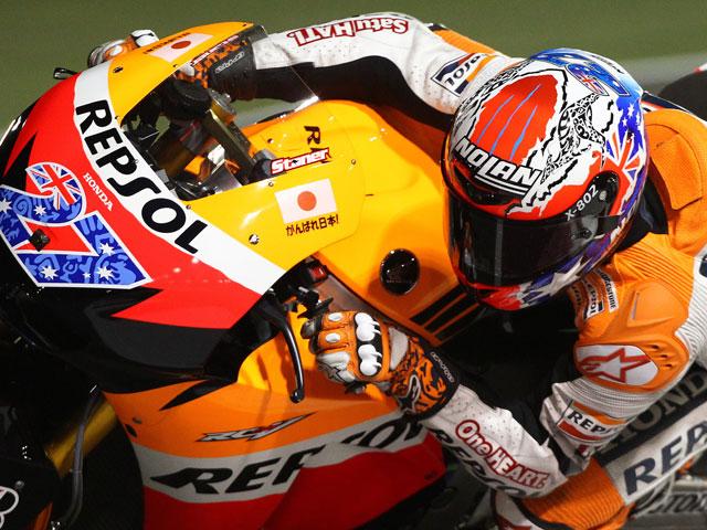 Casey Stoner gana en el Gran Premio de Qatar