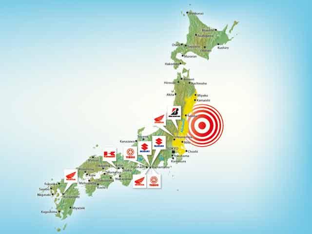Las fábricas japonesas afectadas por el terremoto y el tsunami