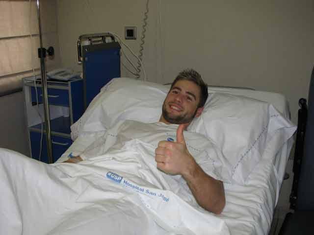 Álvaro Bautista, operado ayer con éxito en Madrid