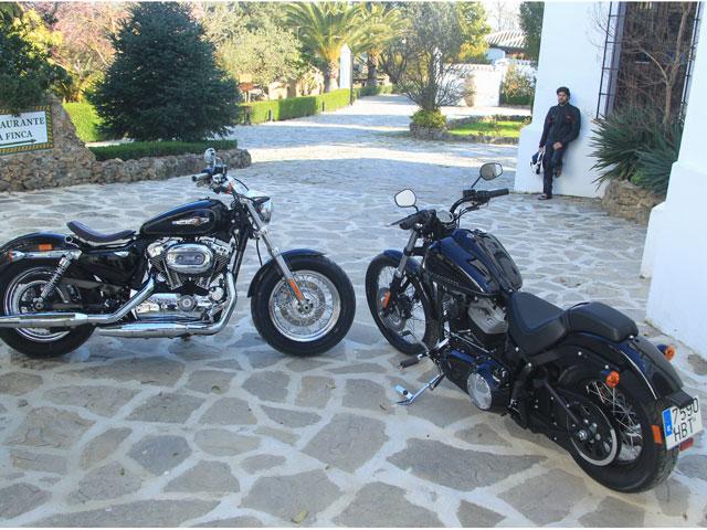 Comparativa Harley-Davidson: XL 1200 C Sportster Custom y Softail FXS Blackline.