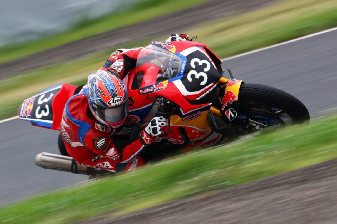 Honda CBR1000RRW RedBull with Japan Post