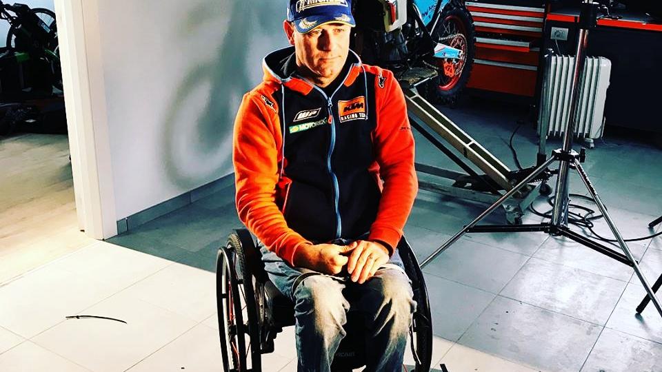 Nicola Dutto será el primer piloto parapléjico en correr el Dakar en moto