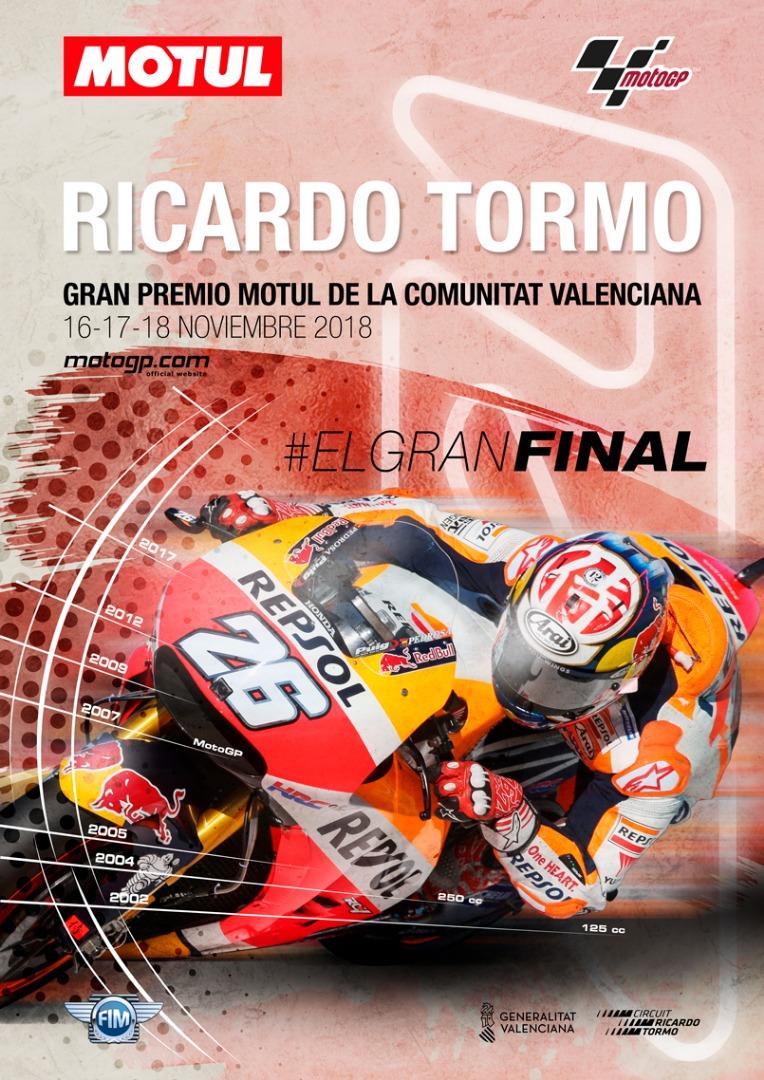 Carteles Dani Pedrosa GP Comunidad Valenciana 2018
