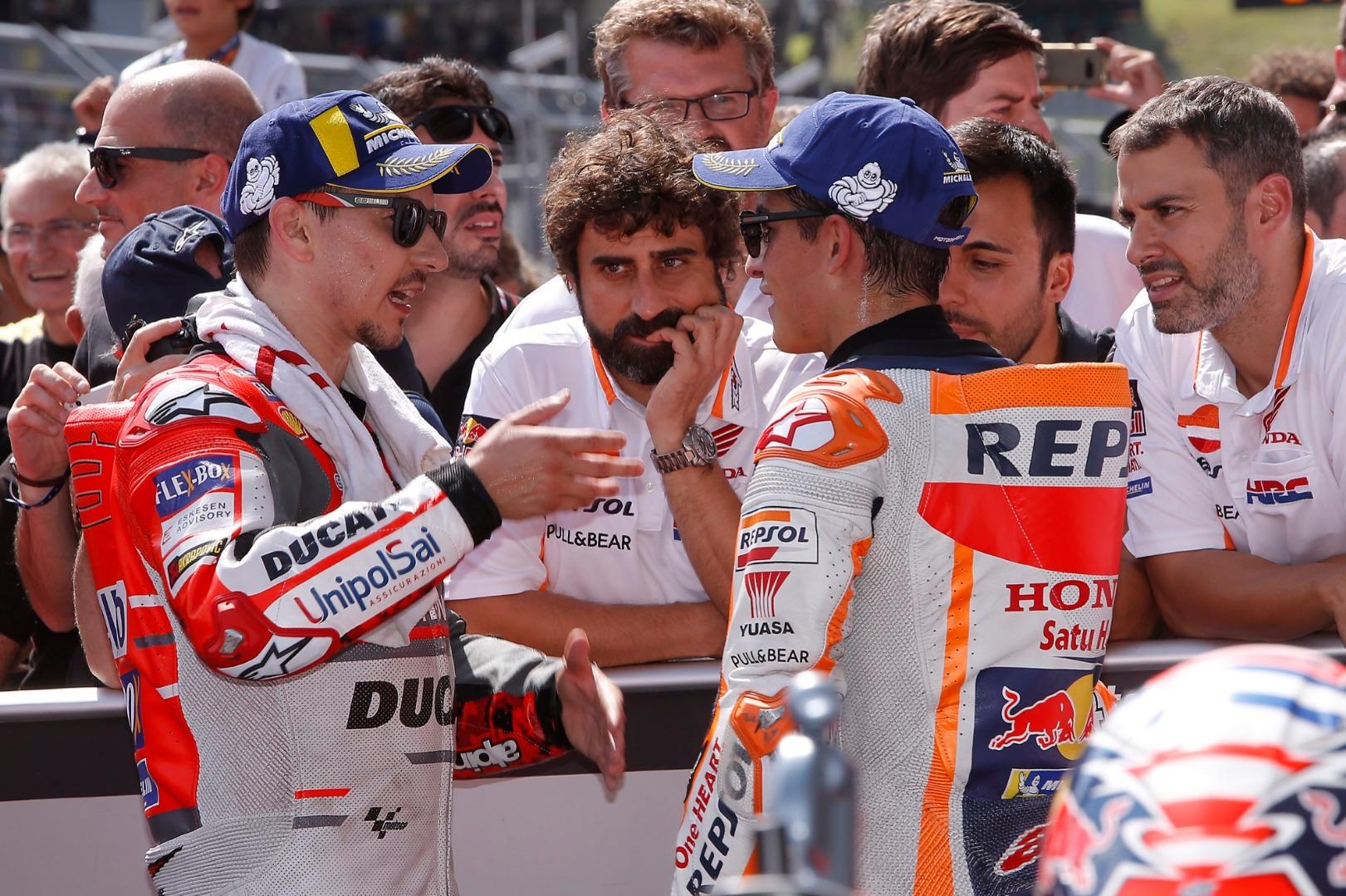 Jorge Lorenzo vs Marc Márquez - Las fotos del duelo en Austria