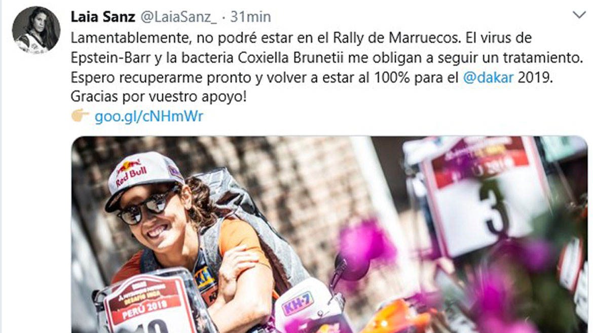 Laia Sanz, fuera del Cross-Country por un virus