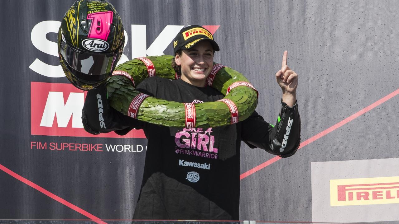 Ana Carrasco, campeona del mundo de WSSP300