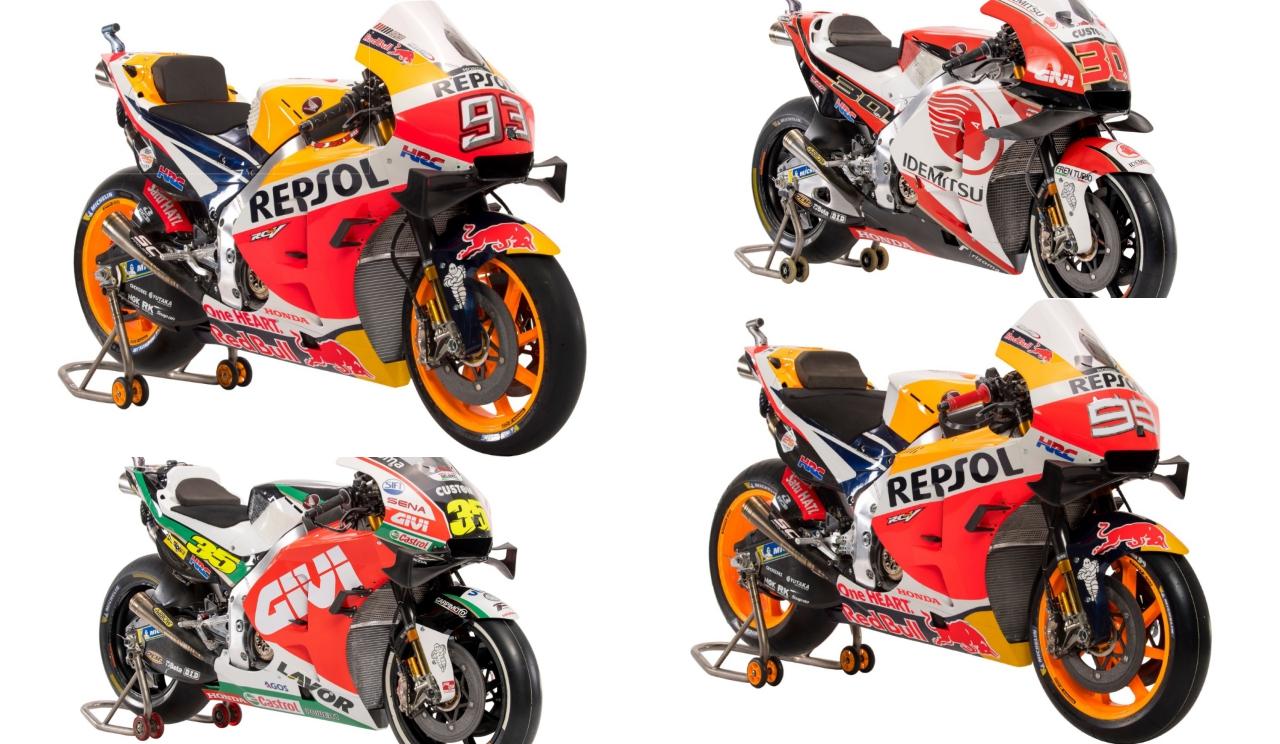 Las 6 motos de MotoGP 2019