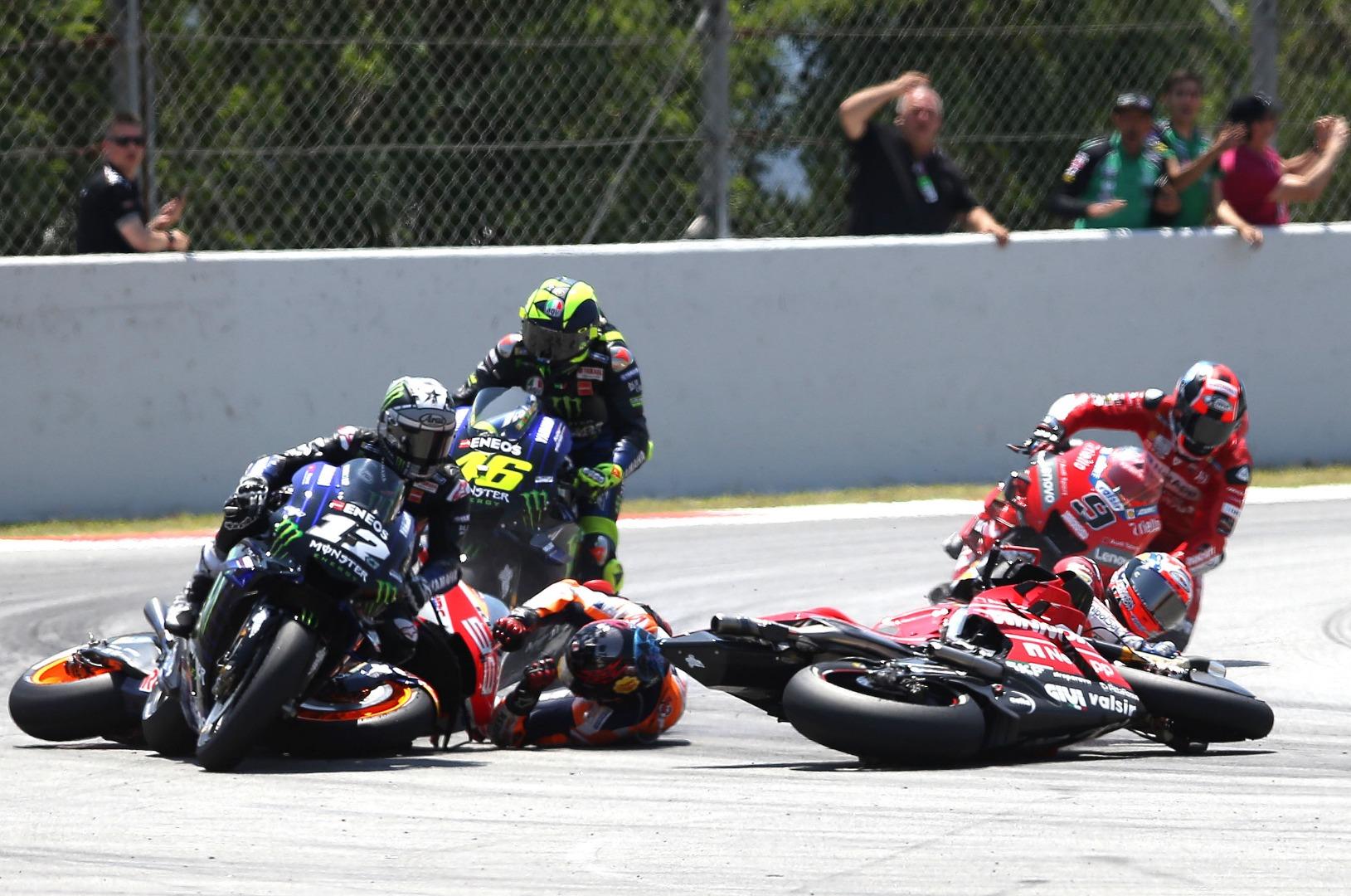 Incidente Jorge Lorenzo - MotoGP Catalunya 2019