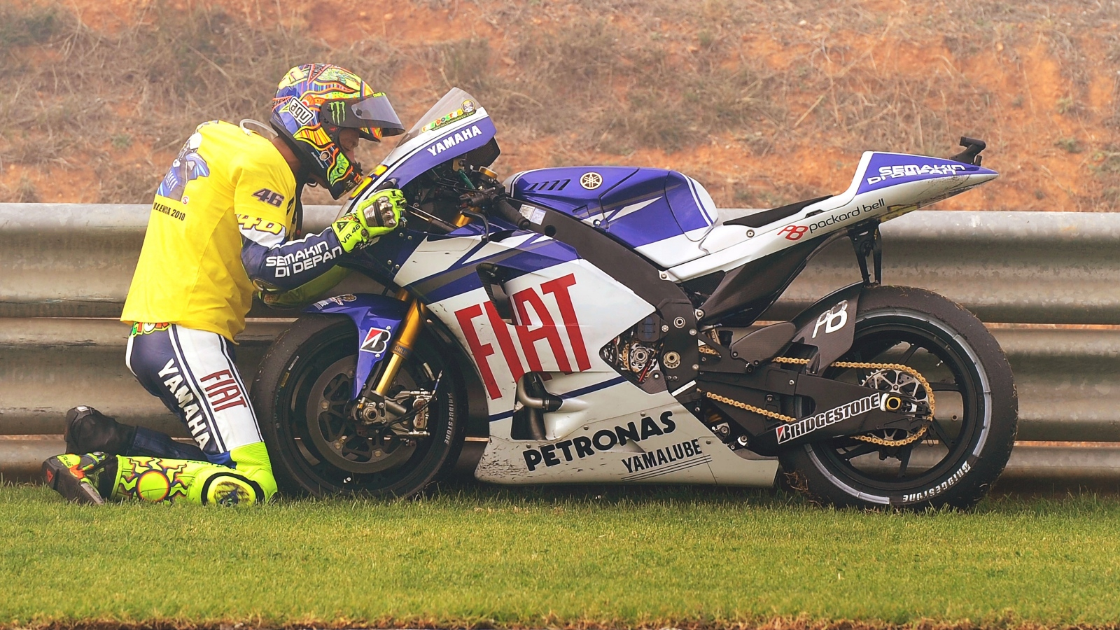 25 años Valentino Rossi: 2010 – 3º MotoGP – Yamaha YZR-M1 / Fiat Yamaha Team