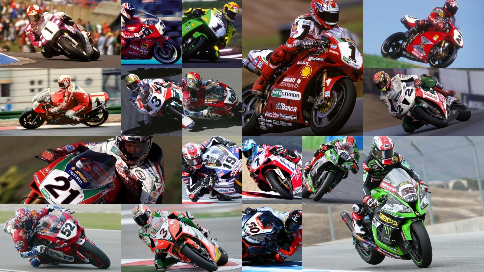 Todos los campeones del Mundial de Superbike