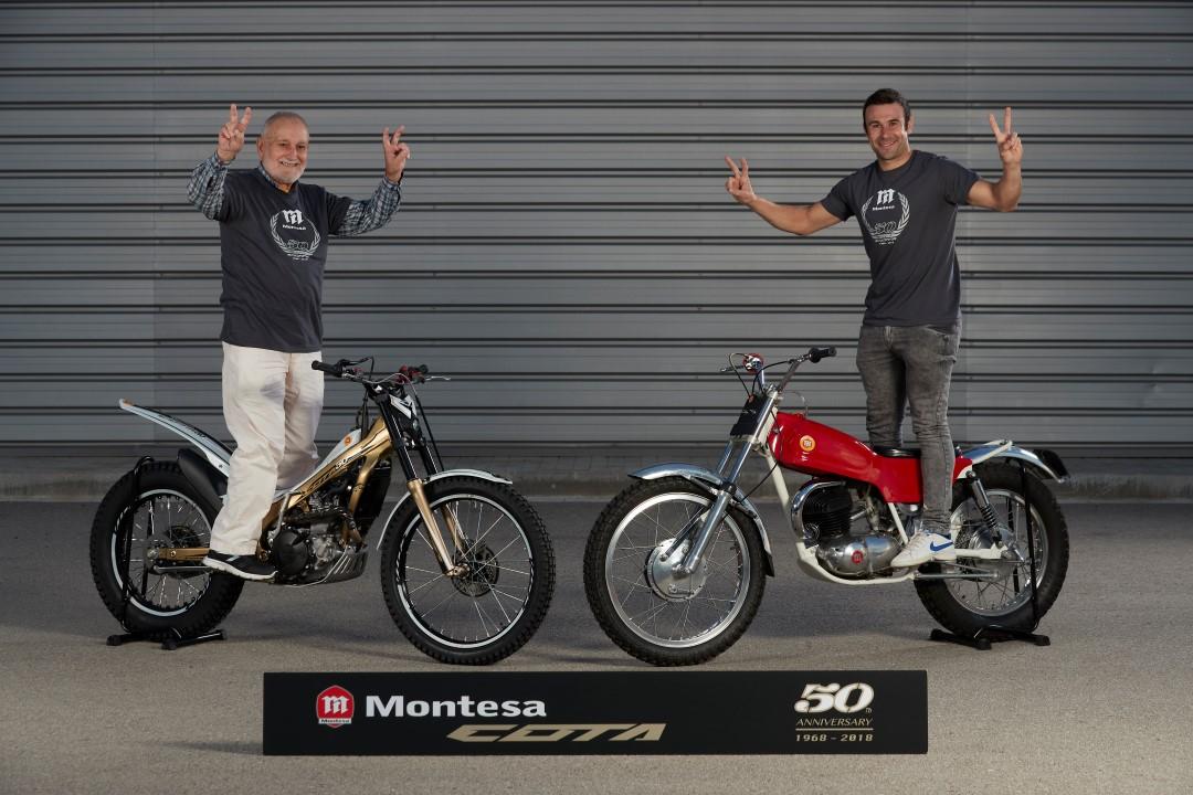 Galería de fotos pilotos Montesa Toni Bou y Pere Pi