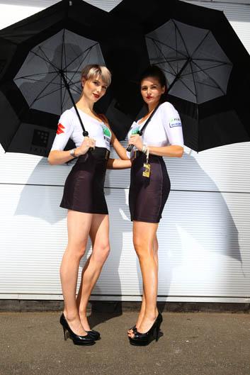 Las chicas del Mundial de SBK en Donington