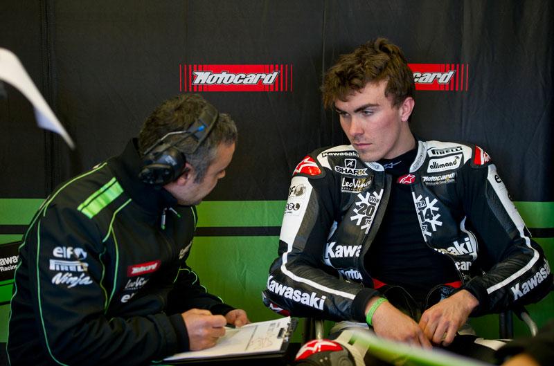Entrenamientos Kawasaki de Tom Sykes y Loris Baz en Jerez