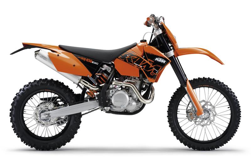 KTM 450 EXC. Fotos gama