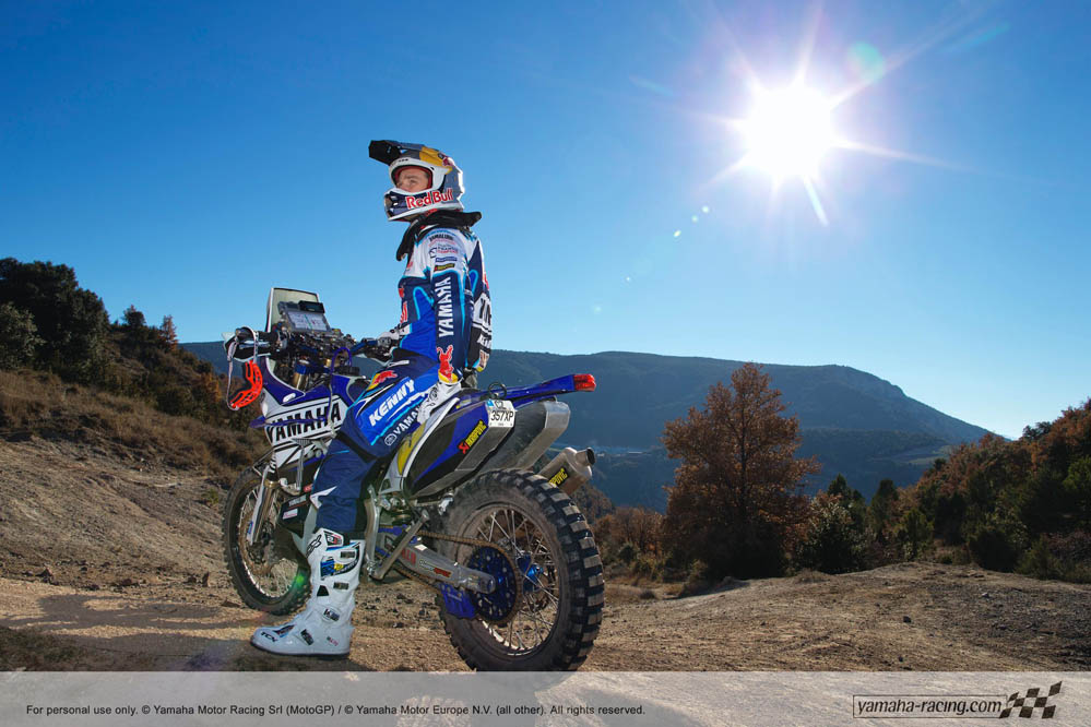 Fotos Cyril Despres con su Yamaha Dakar 2014