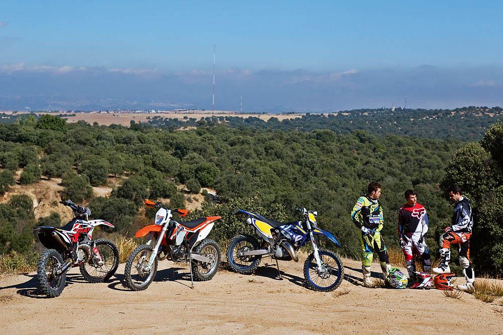 Comparativa Enduro 125: Gas Gas, Husaberg y KTM. Fotos