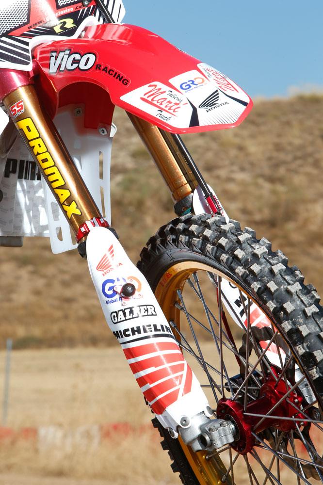 Honda CRF 250 del Team Vico. Fotos