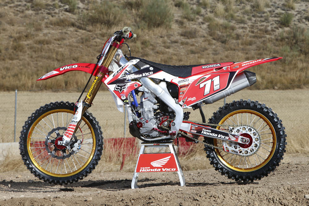 Honda CRF 250 del Team Vico. Fotos