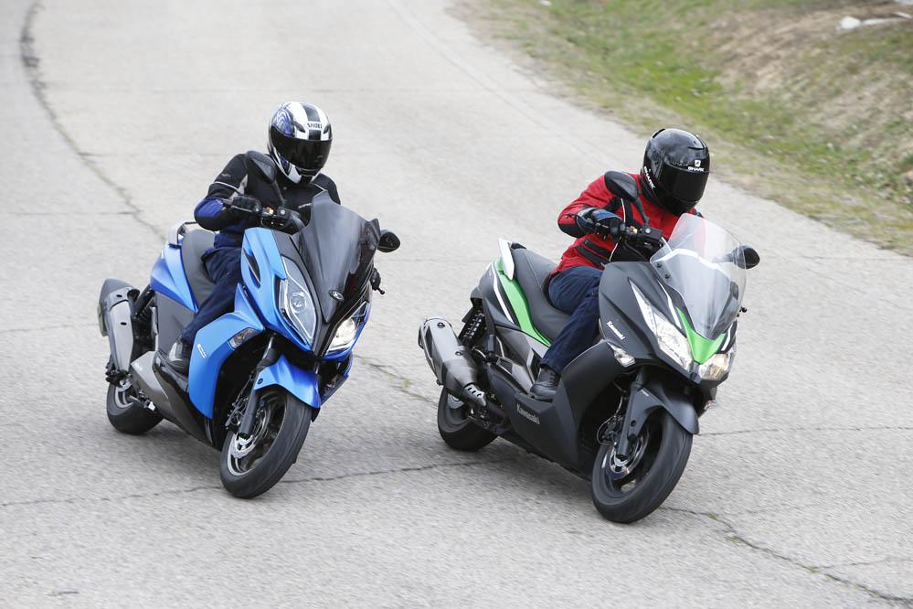 Comparativa Scooter: Kawasaki J300 ABS y Kymco K-XCT 300. Fotos