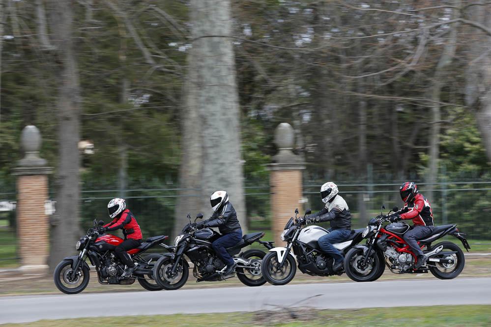 Comparativa naked: Honda, Kawasaki, Suzuki y Yamaha. Galería de fotos