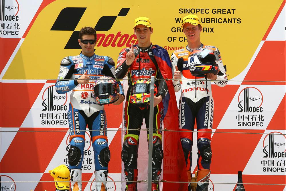 Primer podio de Tito Rabat en 125cc (2007)