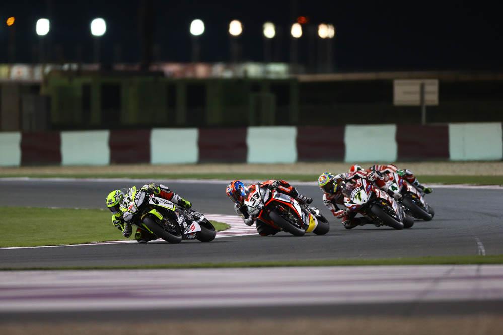 Carrera de SBK en Qatar en imágenes