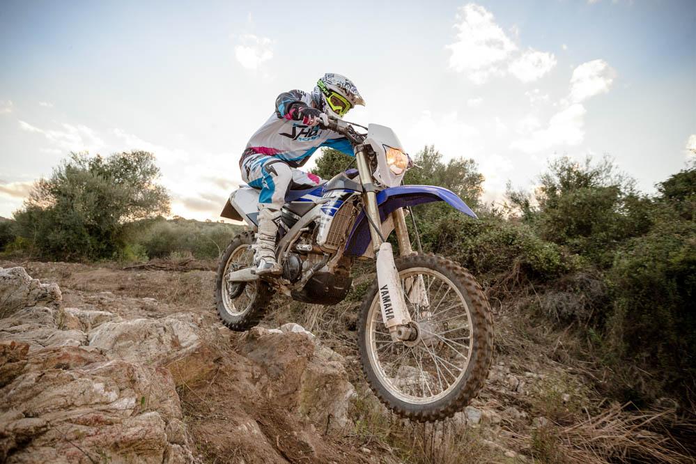 Prueba de la Yamaha WRF250. Imágenes