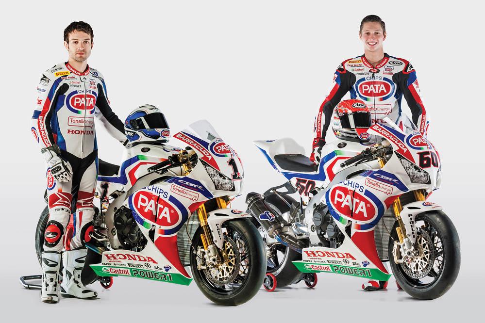 Sylvain Guintoli y Michael van de Mark, con las Honda oficiales