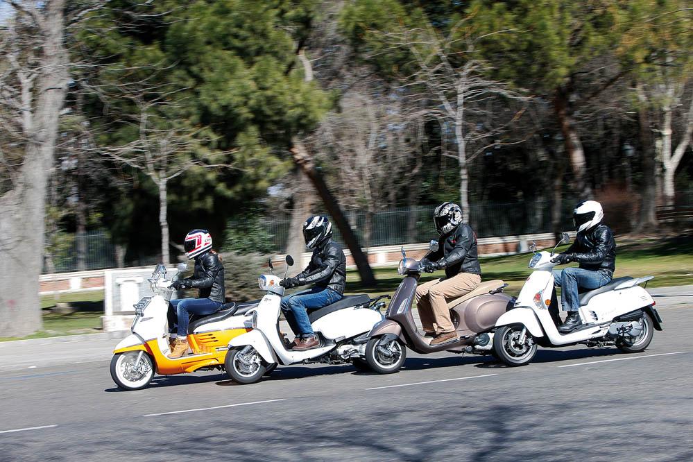 Comparativa Scooter Vintage 125: Daelim, KYMCO, Peugeot y Vespa. Galería