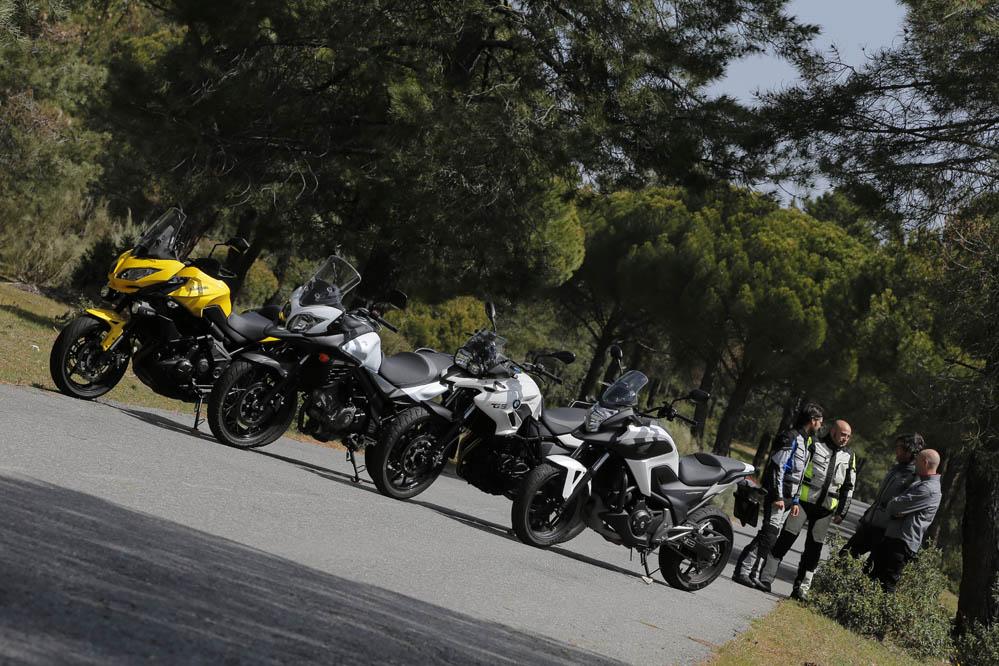 Comparativa Trail: BMW F 700 GS, Honda NC750X DCT, Kawasaki Versys 650 Tourer Plus y Suzuki V-Strom 650XT. Galería