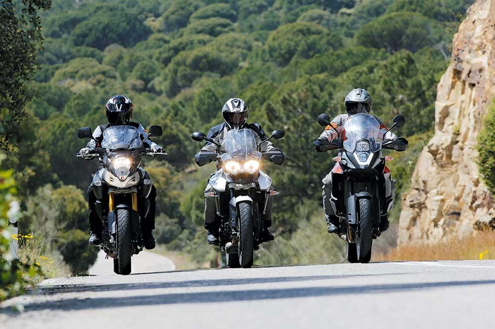 Comparativa trail: KTM, Suzuki, Triumph