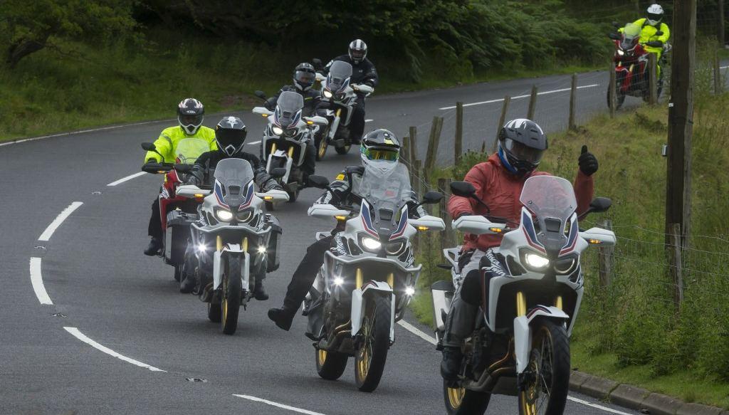 Aventura Honda Africa Twin en Gales