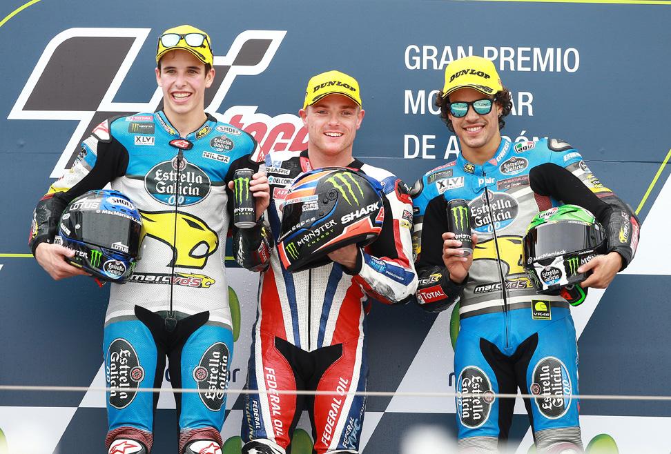 Las imágenes de la carrera de Moto2 en Aragón