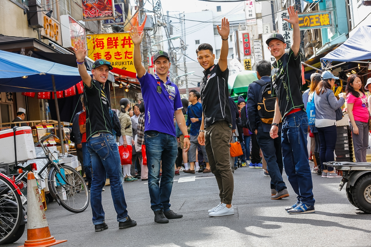 Los pilotos de MotoGP, de turismo por Tokio