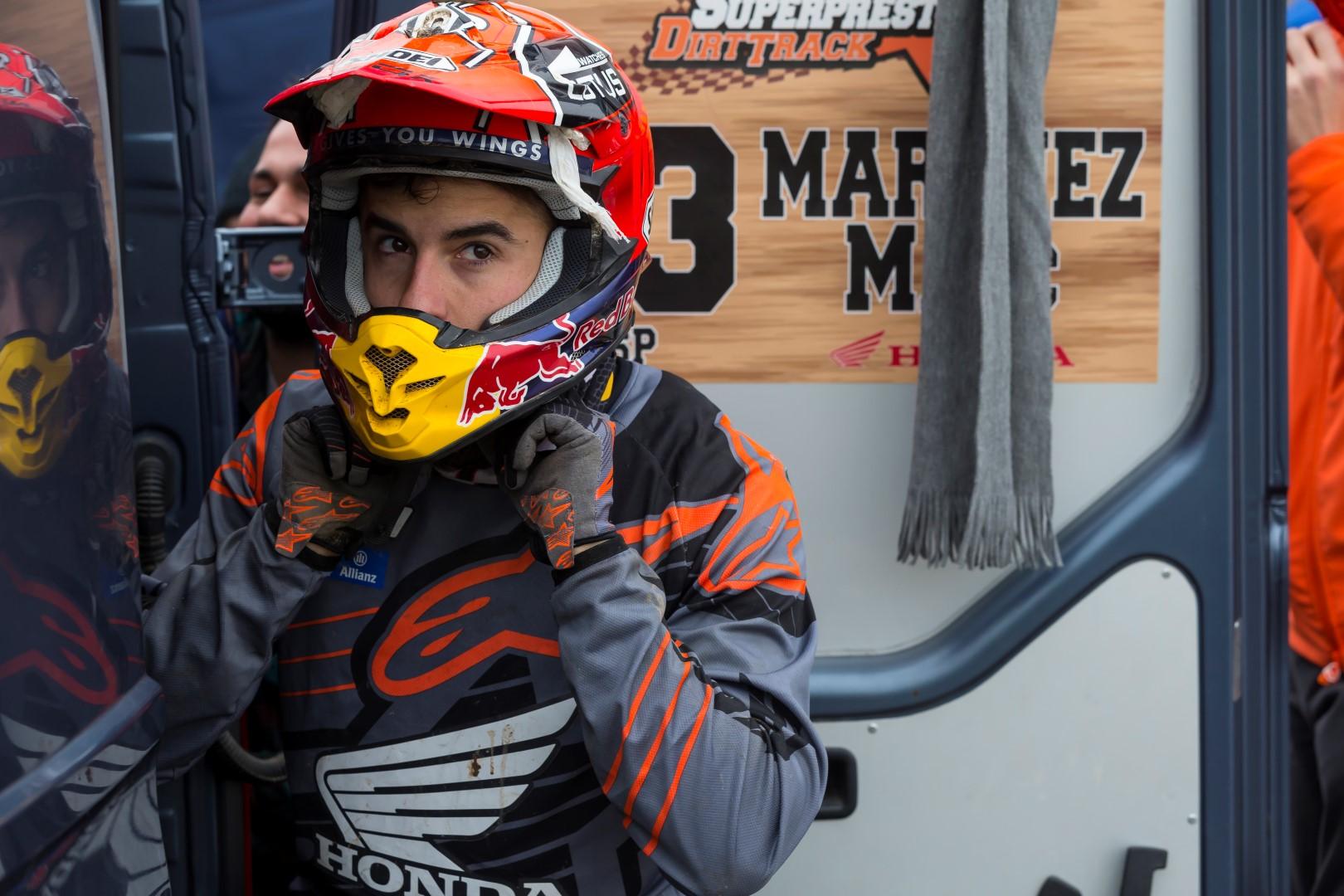 Marc Márquez, piloto de enduro