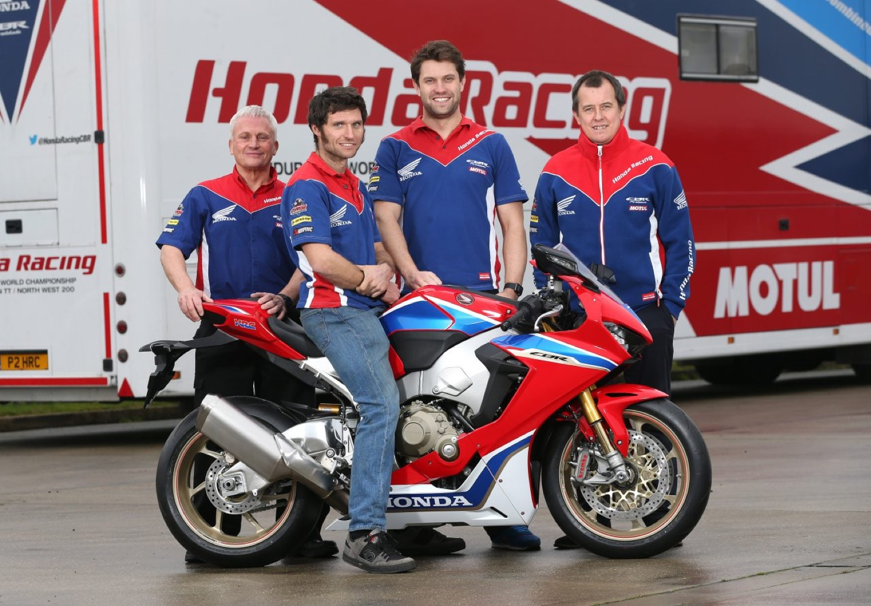 Guy Martin y John McGuinness con Honda