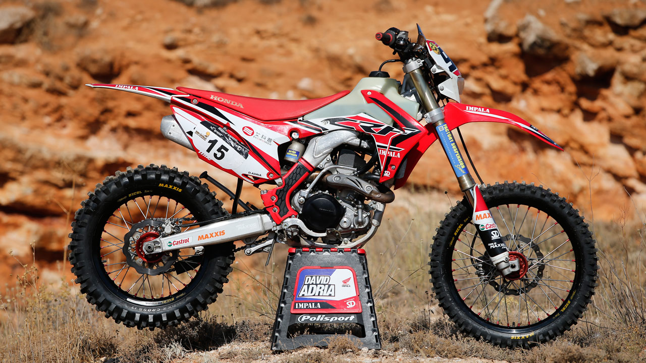 Honda CRF 450 Red Moto David Adriá Bajas