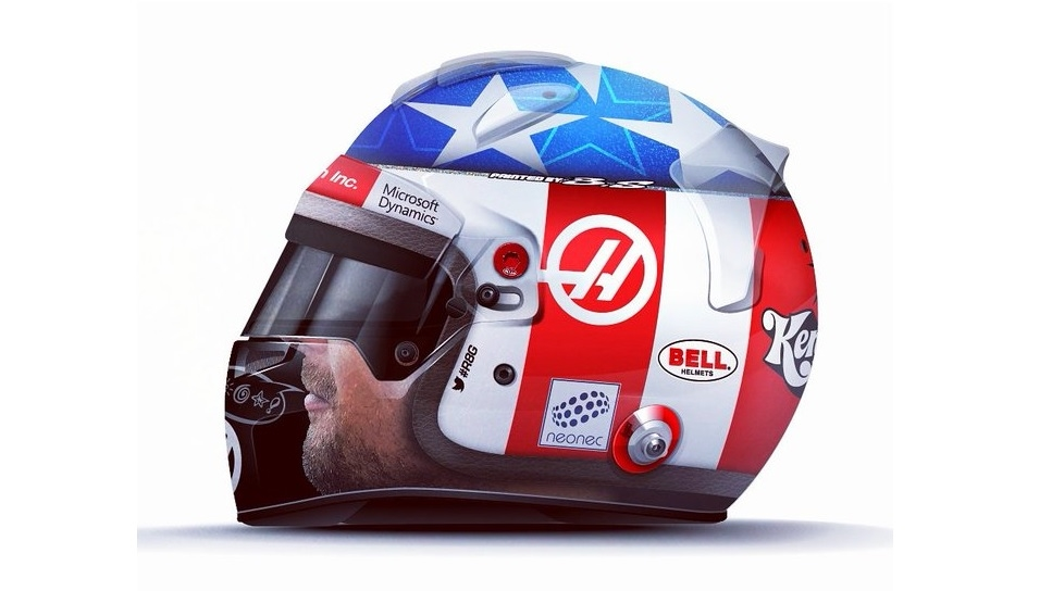 Casco 'Nicky Hayden', por Romain Grosjean