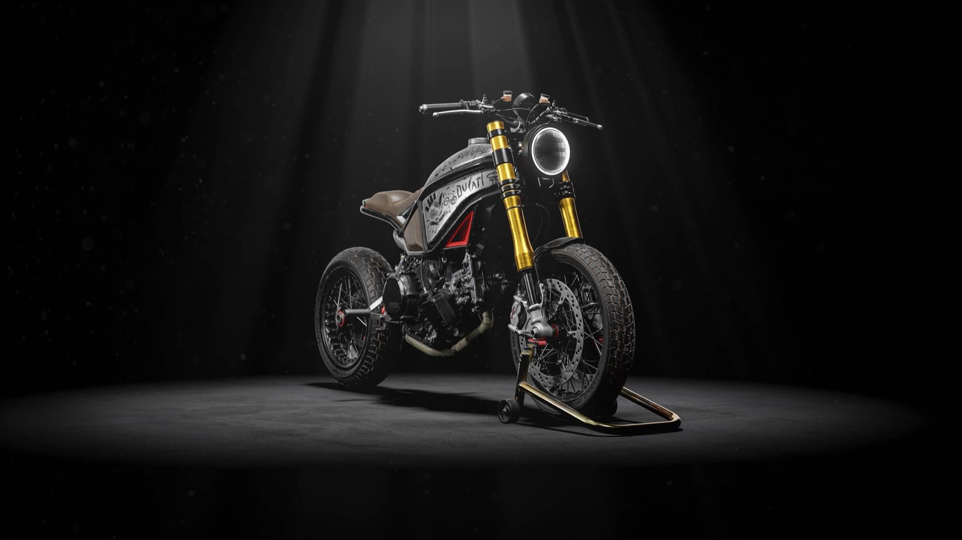 Naughty Quadro sobre la Ducati1299