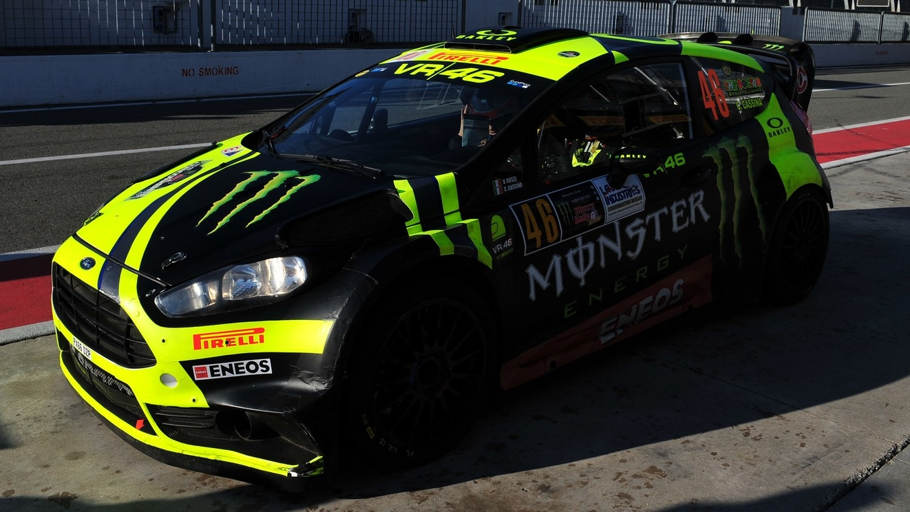 Valentino Rossi en el Monza Rally Show 2017