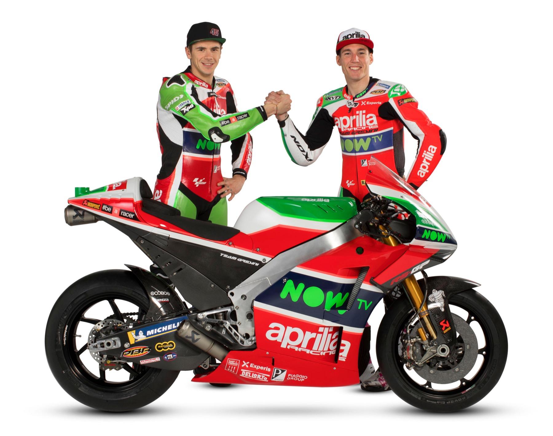 Aprilia presenta su MotoGP 2018