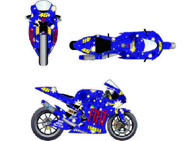 Diseña la moto de Rossi