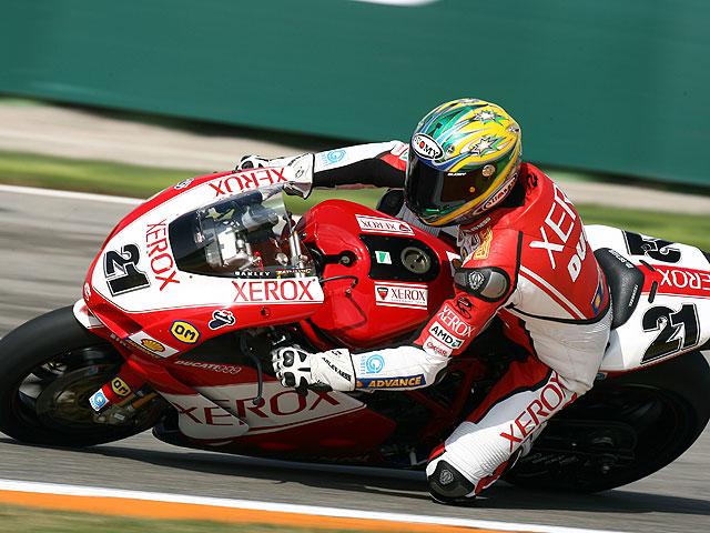 Rubén Xaus (Ducati) marca el mejor tiempo en Vallelunga