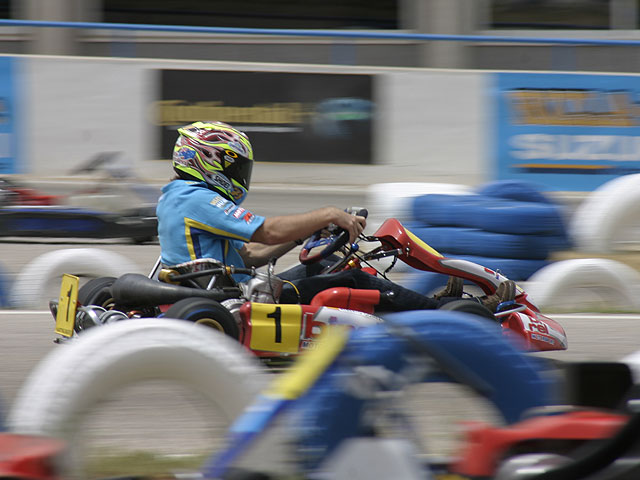 Hopkins y Vermeulen en el Karting