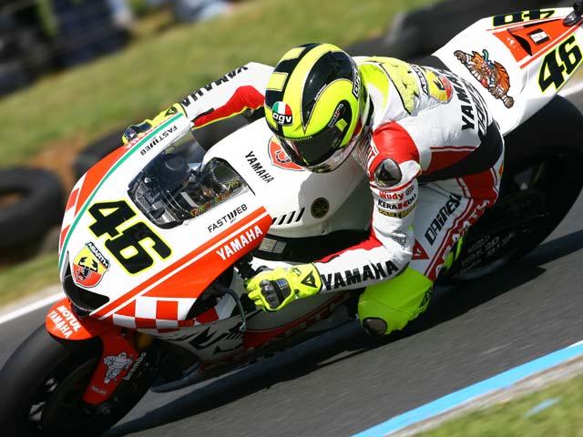 Nueva decoración para la Yamaha de Valentino Rossi