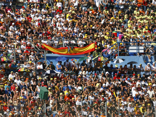 Pasarela motera Bancaja en el GP de Valencia de Motociclismo