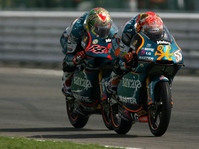 Imagen de Galeria de Faubel tras la corona de campeón del mundo de 125 cc
