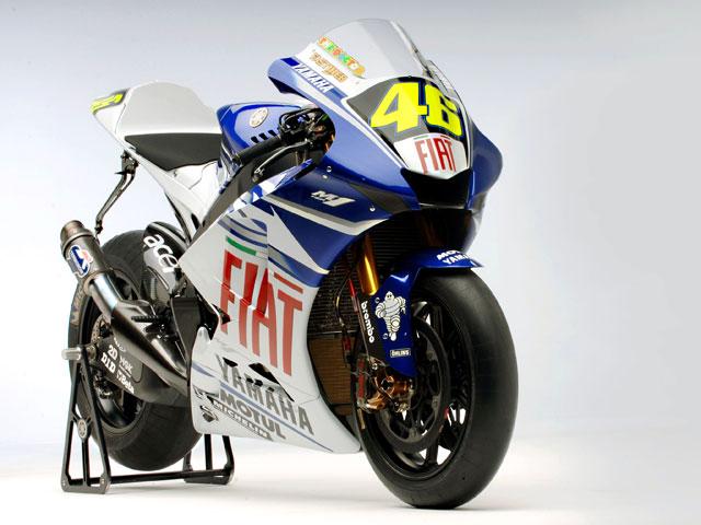 La moto de Rossi, en Castellón