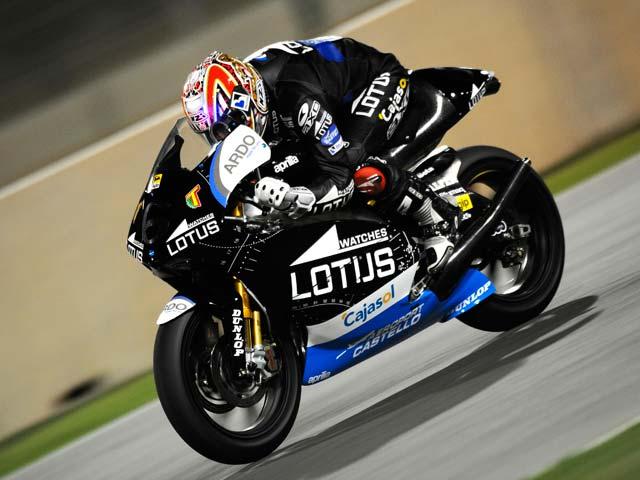 GP de Qatar. Alvaro Bautista (Aprilia) domina los primeros libres