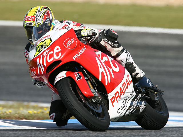 Imagen de Galeria de Toni Elías (Ducati) tocado tras los entrenamientos del viernes